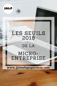 Les seuils 2018 de la micro-entreprise
